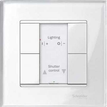 Schneider Electric Merten KNX 2-voudige drukknop LED, RAL9010, wit