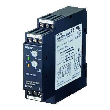 Omron K8AK LS niveaubewakingsrelais, (bxhxd) 22.5x90x100mm uitvoering elektrische