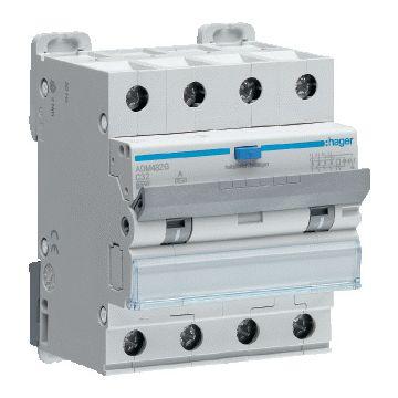 Hager aardlekautomaat 4, kar C, nom. (meet) 400V, nom. (meet)str 32A