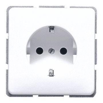 JUNG CD Plus wandcontactdoos kunststof, alpinwit, uitvoering ra, 1 eenheid