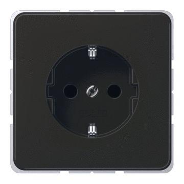 JUNG CD Plus wandcontactdoos kunststof, bruin, uitvoering ra, 1 eenheid