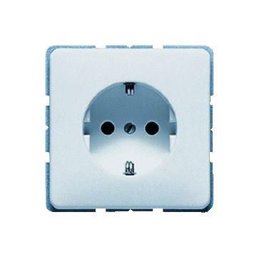 JUNG CD Plus wandcontactdoos kunststof, lichtgrijs, uitvoering ra, 1 eenheid