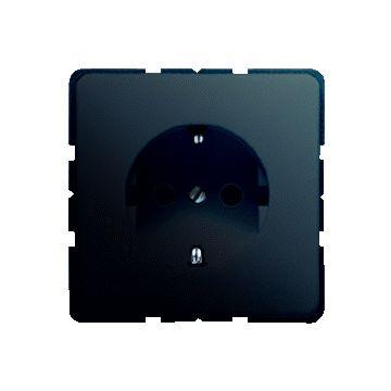 JUNG CD Plus wandcontactdoos kunststof, zwart, uitvoering ra, 1 eenheid, afd centraalplaat