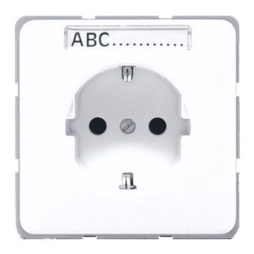 JUNG CD Plus wandcontactdoos kunststof, crèmewit, uitvoering ra