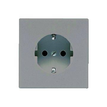 JUNG LS Range wandcontactdoos kunststof, grijs, uitvoering ra, 1 eenheid