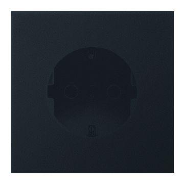 JUNG LS Range wandcontactdoos kunststof, zwart, uitvoering ra, 1 eenheid, afd centraalplaat
