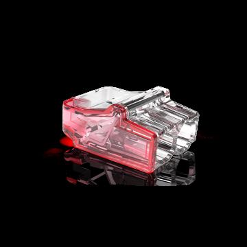 Conex lasklem Mini, transparant, 2 klemposities, nom. diam 1-2.5mm², doos=50st