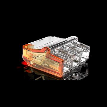 Conex lasklem Mini, transparant, 3 klemposities, nom. diam 1-2.5mm², doos=50st
