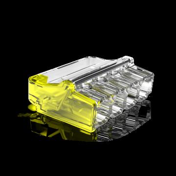 Conex lasklem Mini, transparant, 4 klemposities, nom. diam 1-2.5mm², doos=50st