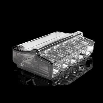 Conex lasklem Mini, transparant, 5 klemposities, nom. diam 1-2.5mm², doos=50st