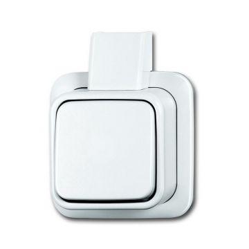 Busch-Jaeger AP Plus wipschakelaar wissel, wit