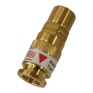Sievert gasslagnippel vast, inw slagdiameter 5-8mm