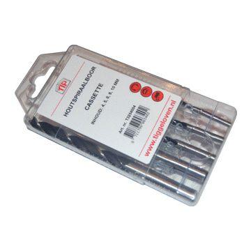 TIP houtboor cassette, Ø 4/5/6/8/10mm