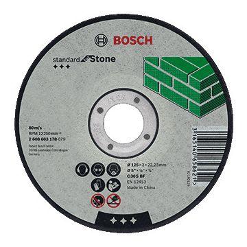 Bosch slijpschijf, doorslijpen, diam schijf 125mm, dikte 3mm