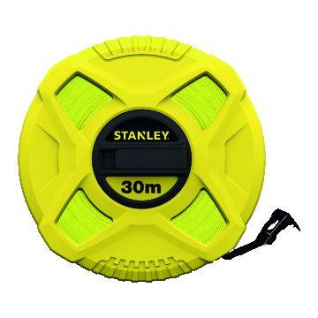 Stanley meetlint, kunststofof, (lxb) 30mx12.7mm, behuizing kunststof