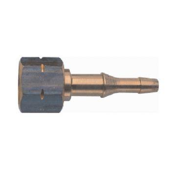 Sievert gasslagnippel vast, met wartelmoer, inw slagdiameter 5-8mm