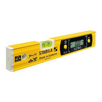 Stabila waterpas 80A-electronic, aluminium, le 30cm, hor kijkglas, 1 libellen