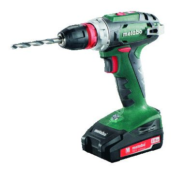 Metabo schroefboormachine (accu), accuspanning 18V, accucapaciteit 2Ah