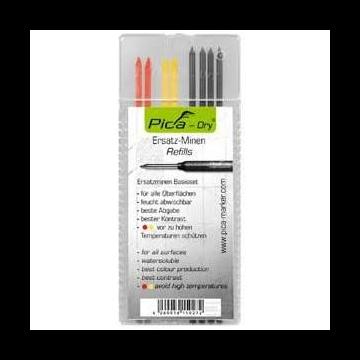 Lyra navulling markeerpotlood, rd/geel/zwart, voor hout uitstekend, voor met
