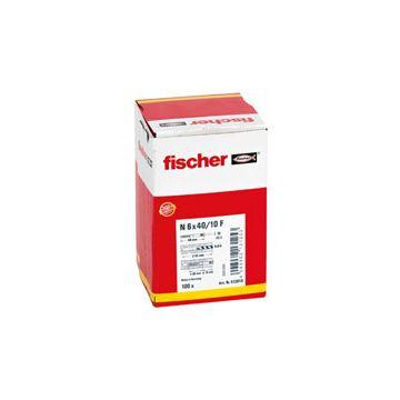 Fischer nagelplug n-z 8 x 80 mm, 50 stuks, grijs