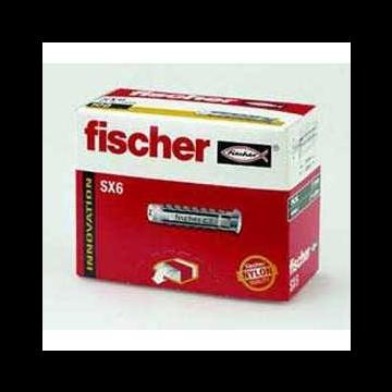 Fischer SX nylon plug 12 x 60, 25 stuks, grijs