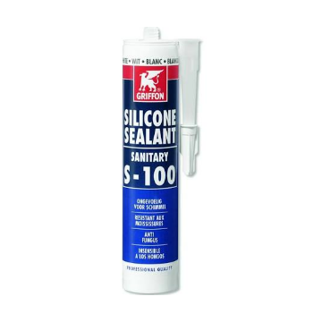 Griffon afdichtingsmiddel Silicone Sealant Sanitary S-100, wit