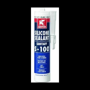 Griffon afdichtingsmiddel Silicone Sealant Sanitary S-100, transparant