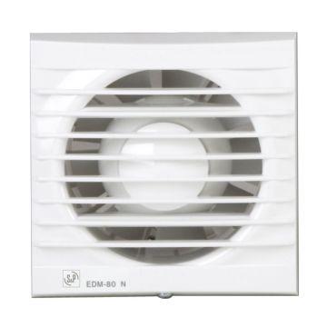 Soler & Palau douche-/toiletventilator EDM-80 N, 121,5 x 121,5 mm, wit