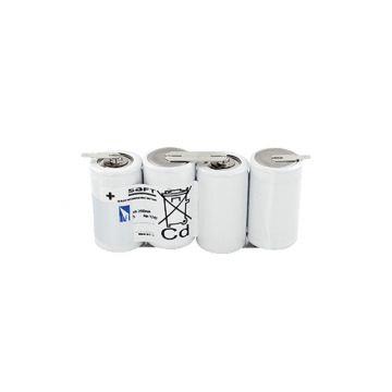 Saft accu noodverlichting, 61.5x132x33mm, 4.8V, capaciteit 4Ah, accu- niCd