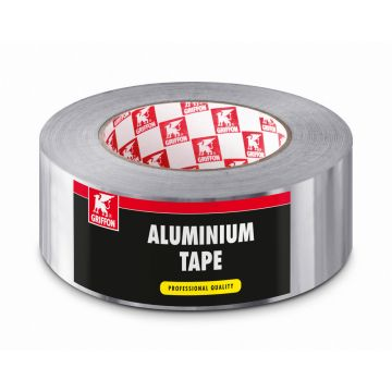 Griffon zelfklevende tape, aluminium, (lxb) 20mx50mm, UV-bestendig, temp best 120°C