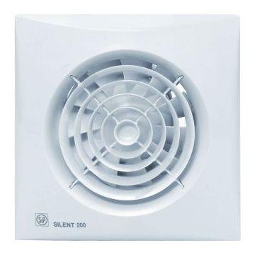 Soler & Palau douche-/toiletventilator SILENT 200, wit, (hxb) 180x180mm