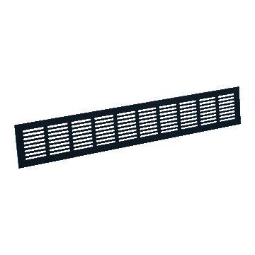 Nedco ventilatierooster, aluminium, zwart, di 10mm, rooster plint