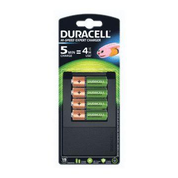 Duracell batterijlader, aantal te laden batterijen 1-4, batterij formaat