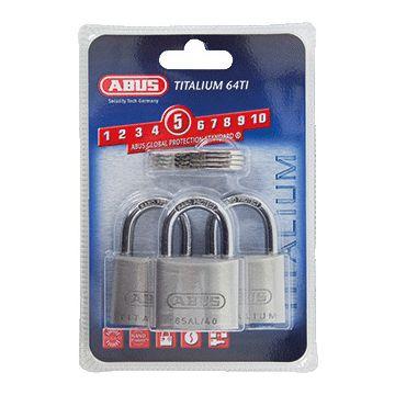 ABUS hangslot Titalium, aluminium, beugel gehard staal, diam beugel 6.5mm