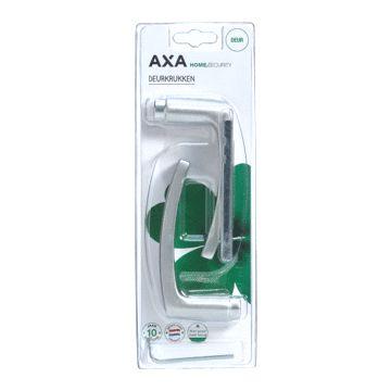 Axa deurkruk paar, aluminium, F-1 aluminium naturel, (lxb) 125x60mm, geanod