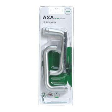 Axa deurkruk paar, aluminium, F-1 aluminium naturel, (lxb) 122x55mm, geanod