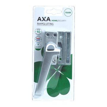 Axa raamsluiting oplengteg, aluminium, links, vergrendeling drukknop, geëloxeerd