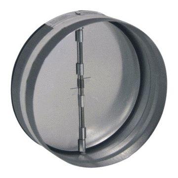 Nedco terugslagklep rond luchtkanaal, staal gegalv, diam 125mm