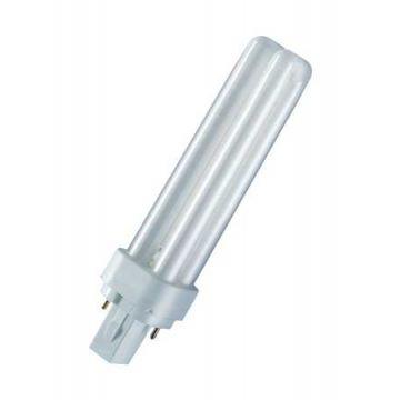 Osram compact fl lamp zonder vsa Dulux D, warm wit, diam 12mm, 10W