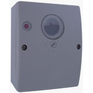 Klemko Lightguard opbouw schemerschakelaar 230V/10A, lux instelbaar, grijs