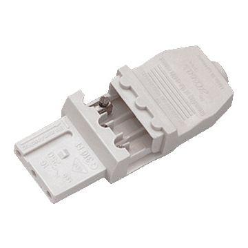 Hera koppelcontactstop 1-voudig SD/GD 316 G316, kunststof, wit