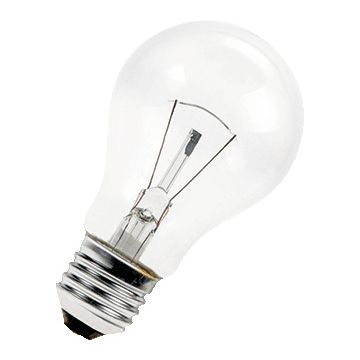 Bailey gloeilamp z/refl helder, diam 60mm, peer, 25W, lampsp 24V