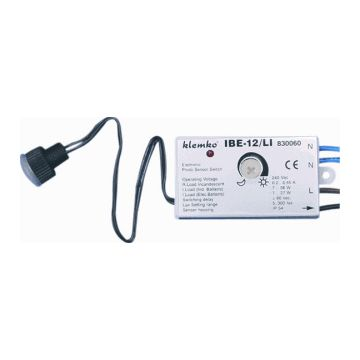 Klemko schemerschakelaar IB E kunststof, wit, sensor lichtsensor afzonderlijk