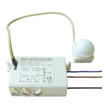 Klemko bewegingsschakelaar (cpl) PIR kunststof, creme/wit/elektrowit