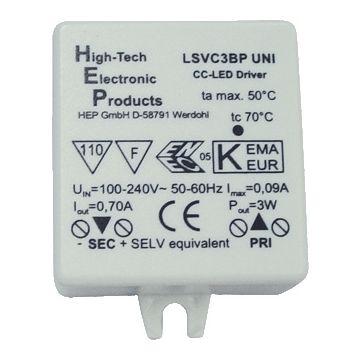 Klemko led driver dynamisch SD 7, 48x38x20mm, dimming niet dimbaar