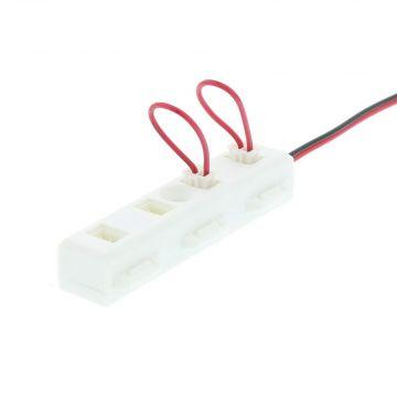 Klemko elektrisch toebehoren led-module CON CAB, zwart, toebehoren verb kabel, 4-voudig