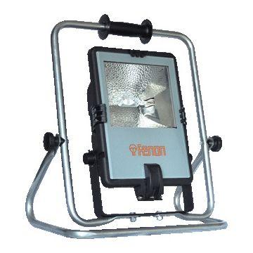 Keraf bouwlamp FENON, kunststof, zwart, lamptype hal met dmp lmp, lamph R7s