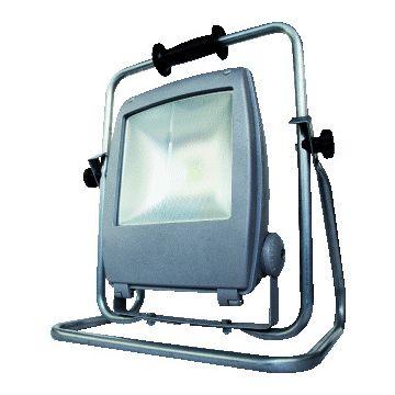 Keraf bouwlamp FENON LED, gietalu, grijs, lamptype LED, 55W