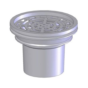 De Beer Pluvetta pot met koker zonder rooster voor balkondoorvoer afvoer, lood, 80mm