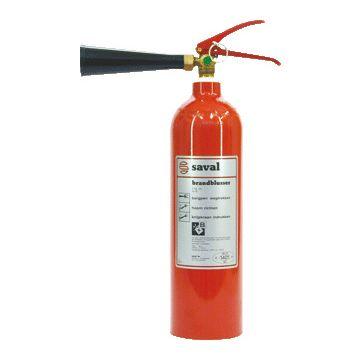 Saval brandblusser AK, vulling koolzuursneeuw, netto 2kg, met oph bgl